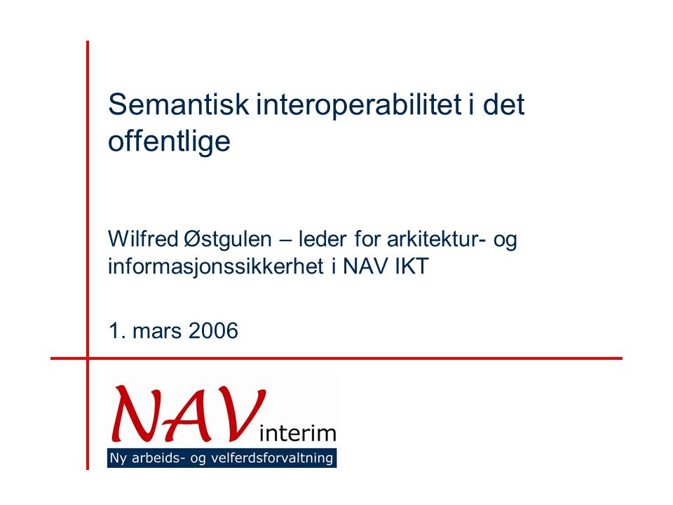 Semantisk interoperabilitet i det offentlige