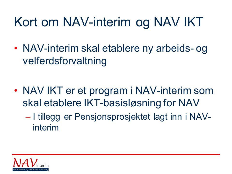 Kort om NAV-interim og NAV IKT