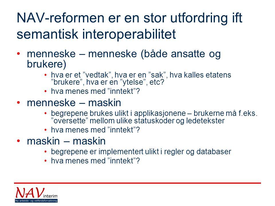 NAV-reformen er en stor utfordring ift semantisk interoperabilitet
