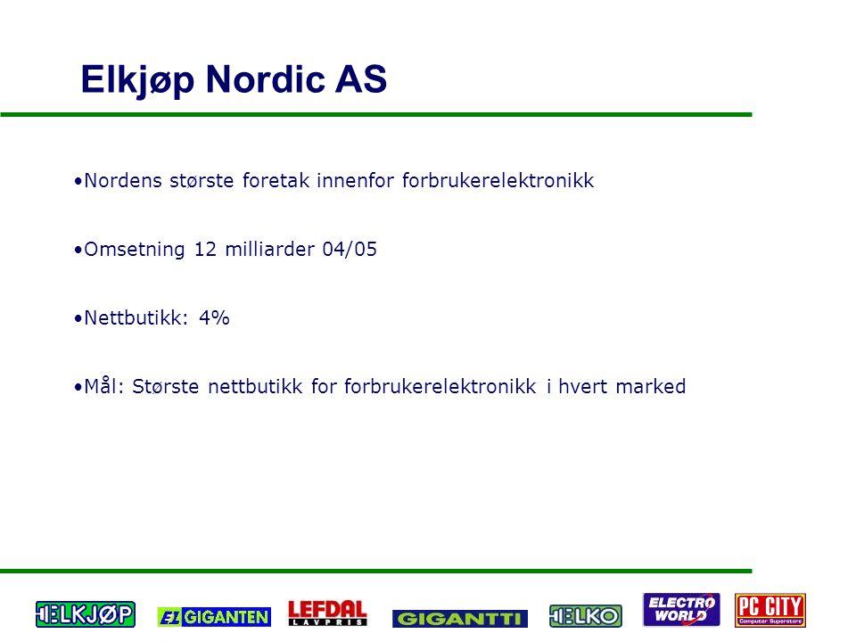 Elkjøp Nordic AS Nordens største foretak innenfor forbrukerelektronikk