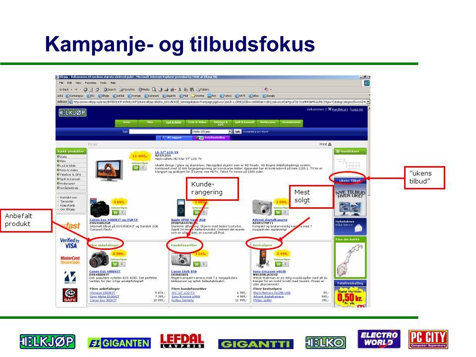 Kampanje- og tilbudsfokus