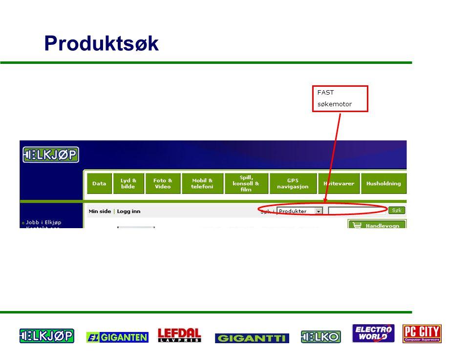 Produktsøk FAST søkemotor