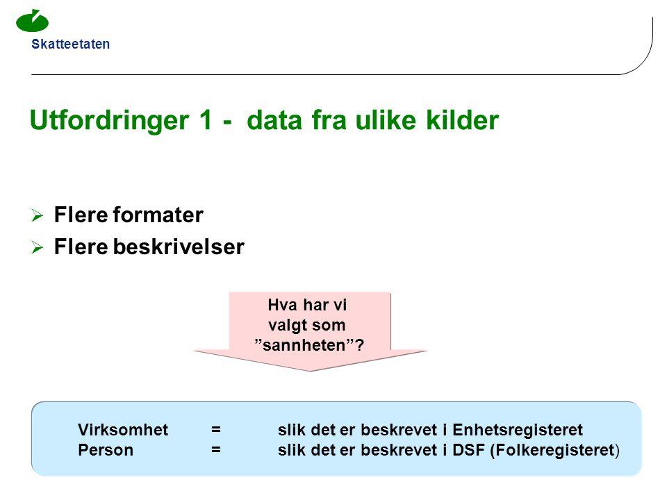 Utfordringer 1 - data fra ulike kilder