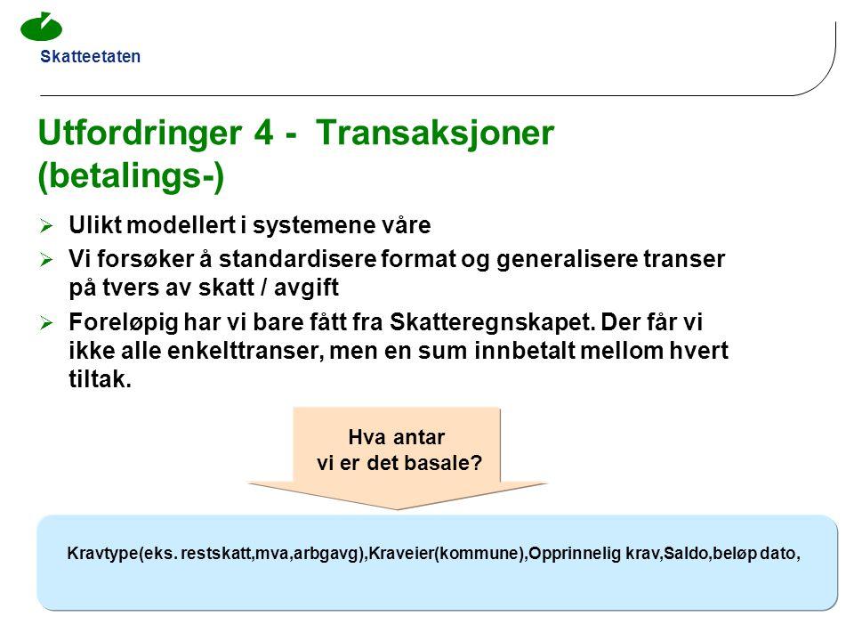 Utfordringer 4 - Transaksjoner (betalings-)