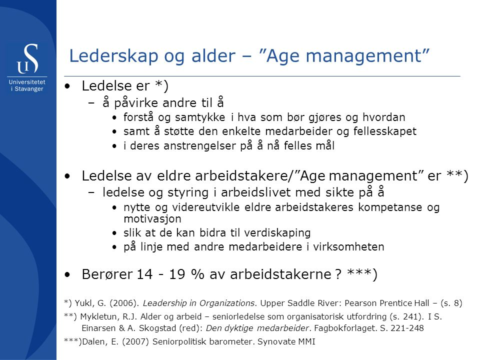 Lederskap og alder – Age management
