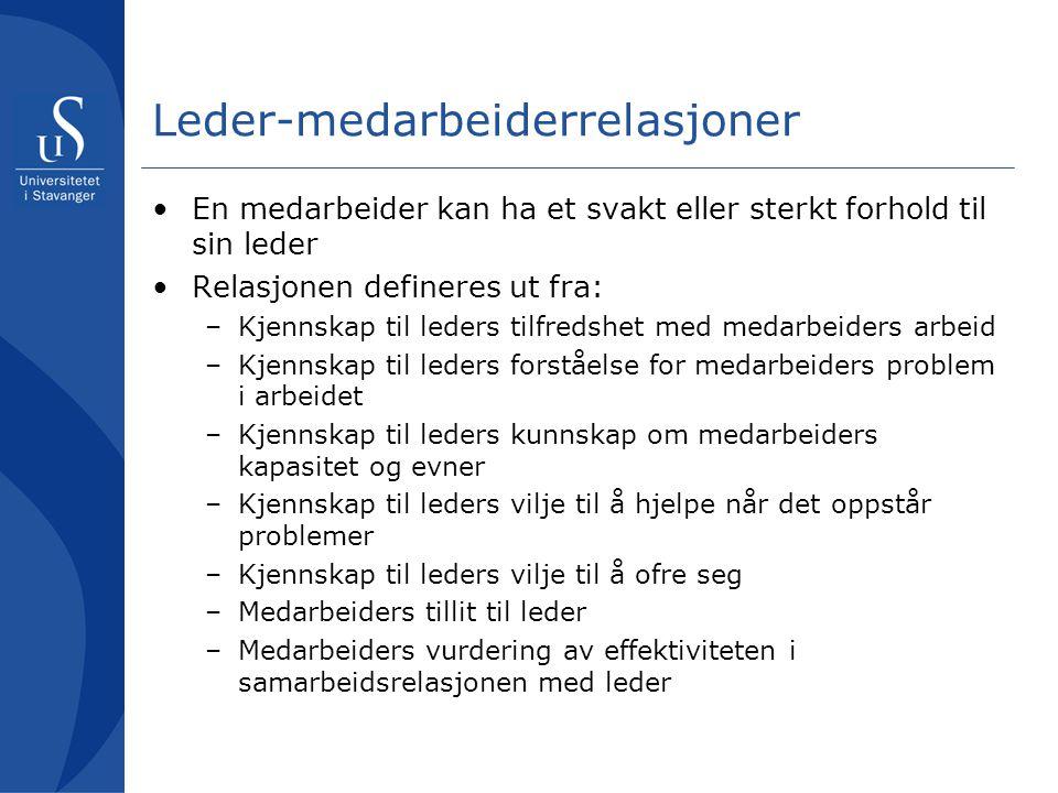 Leder-medarbeiderrelasjoner