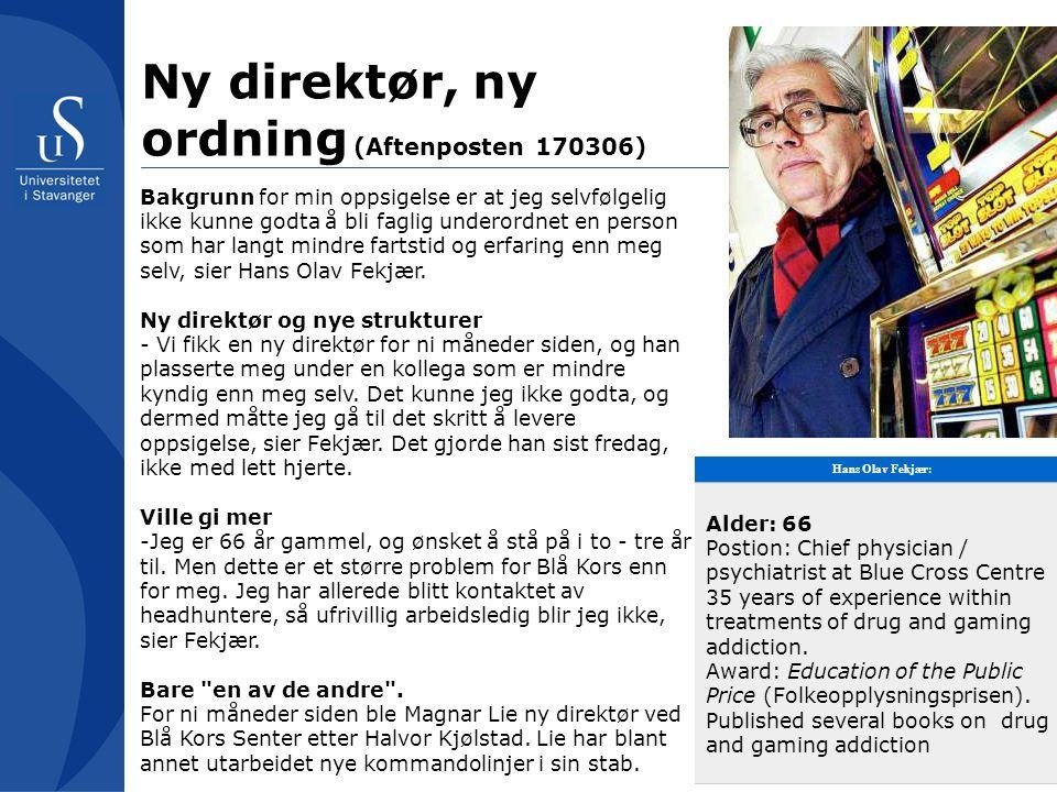Ny direktør, ny ordning (Aftenposten 170306)