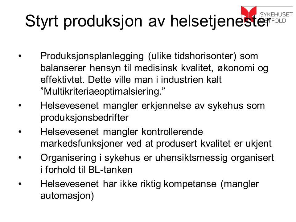 Styrt produksjon av helsetjenester