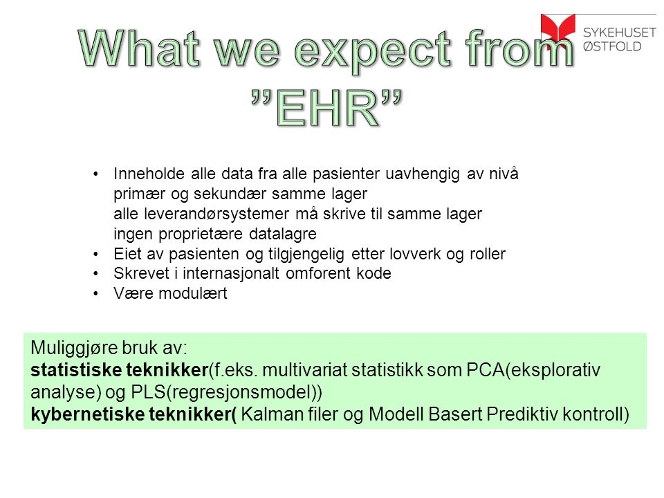 What we expect from EHR