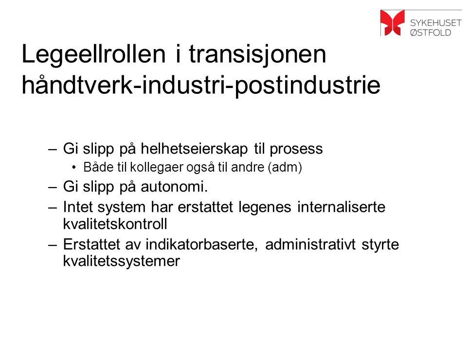 Legeellrollen i transisjonen håndtverk-industri-postindustrie