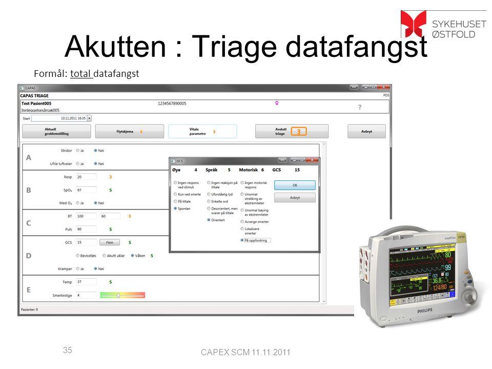 Akutten : Triage datafangst