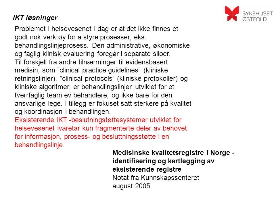 Medisinske kvalitetsregistre i Norge -