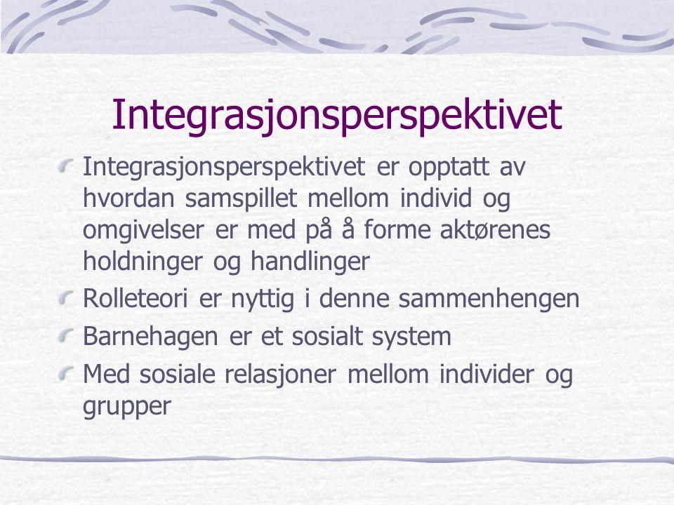 Integrasjonsperspektivet