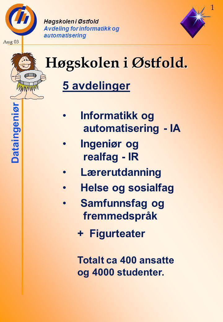 Høgskolen i Østfold. 5 avdelinger Informatikk og automatisering - IA