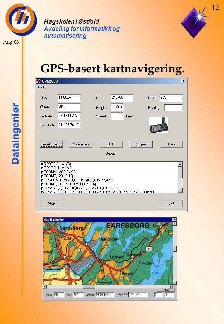 GPS-basert kartnavigering.