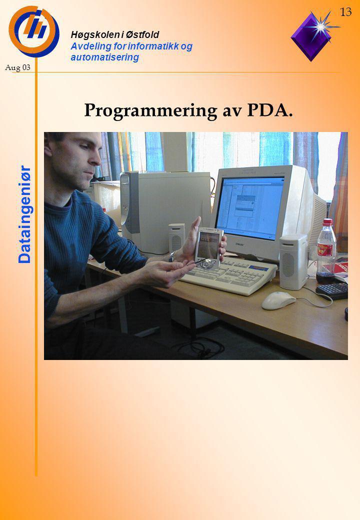 Programmering av PDA.