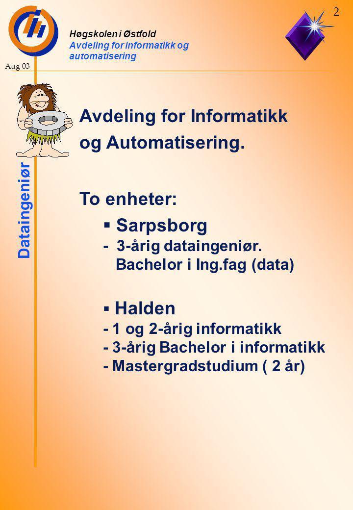 Avdeling for Informatikk og Automatisering.