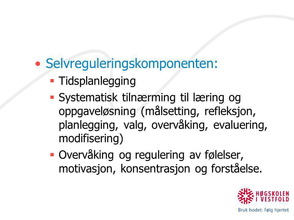 Selvreguleringskomponenten: