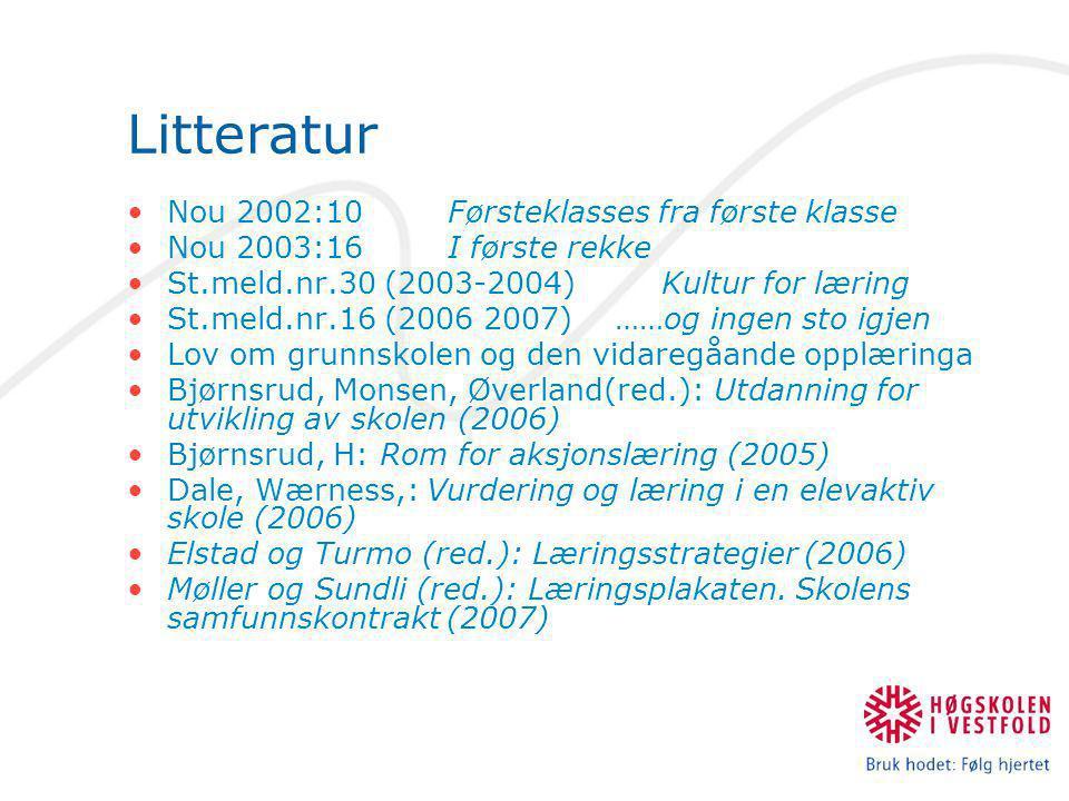 Litteratur Nou 2002:10 Førsteklasses fra første klasse