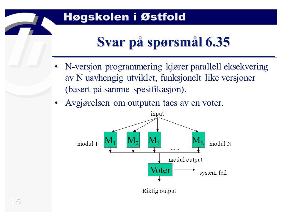 Svar på spørsmål 6.35