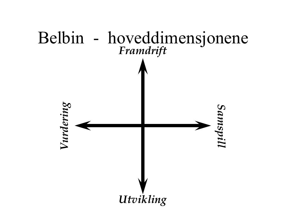 Belbin - hoveddimensjonene