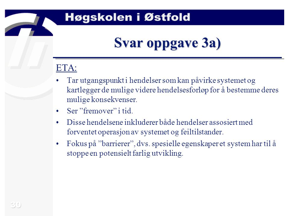 Svar oppgave 3a) ETA:
