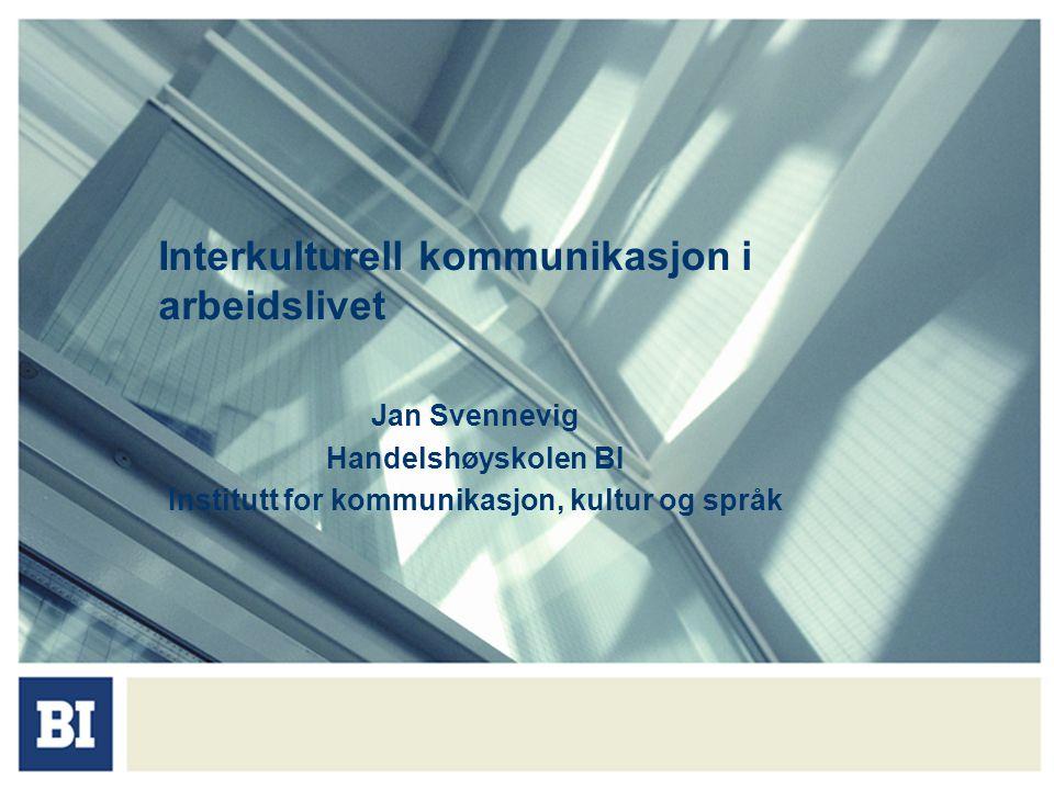 Interkulturell kommunikasjon i arbeidslivet