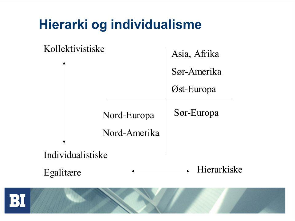 Hierarki og individualisme