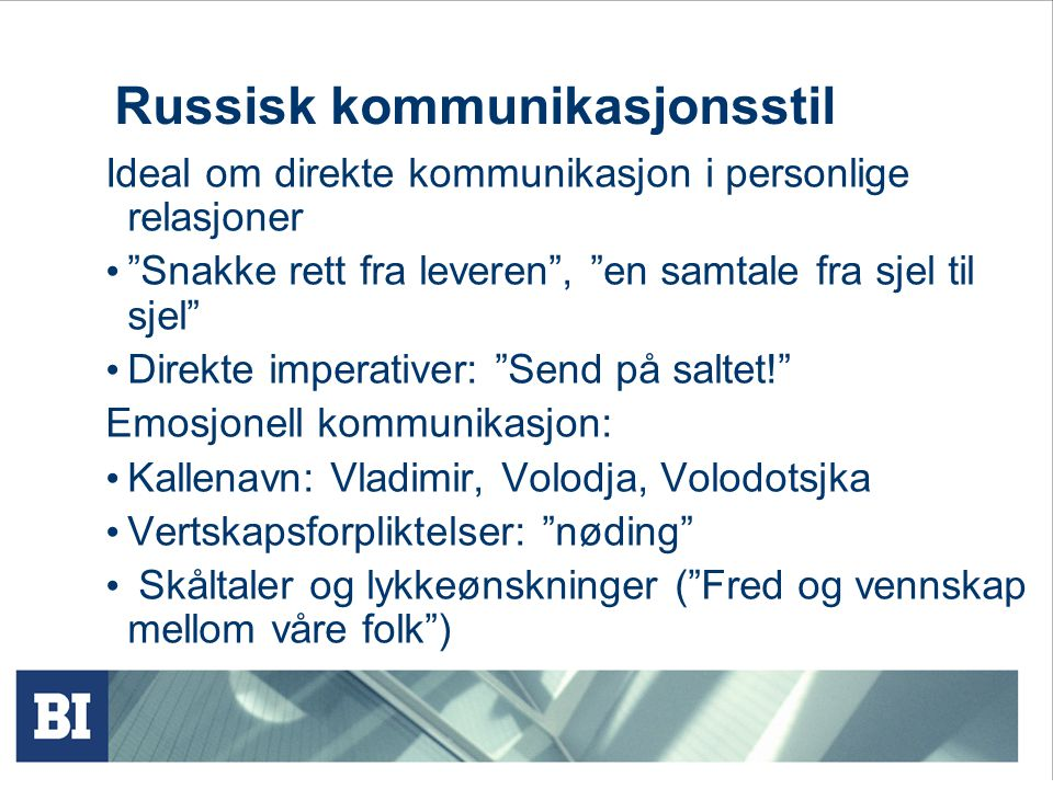 Russisk kommunikasjonsstil