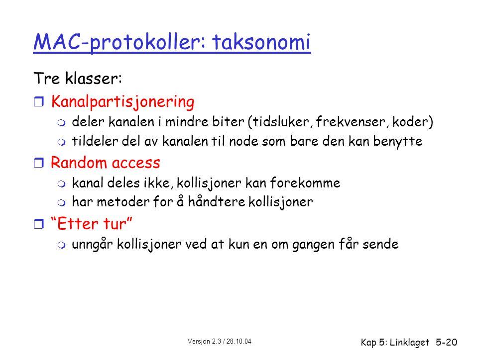 MAC-protokoller: taksonomi
