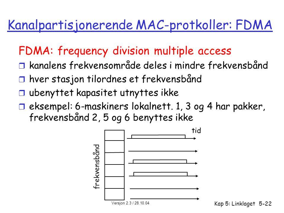 Kanalpartisjonerende MAC-protkoller: FDMA