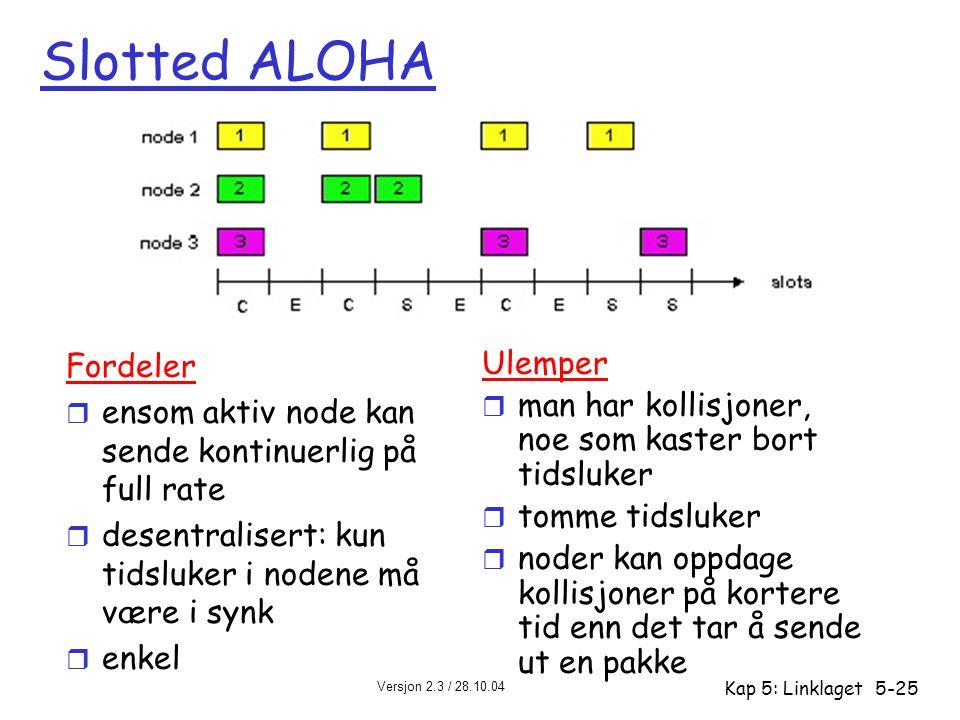 Slotted ALOHA Fordeler