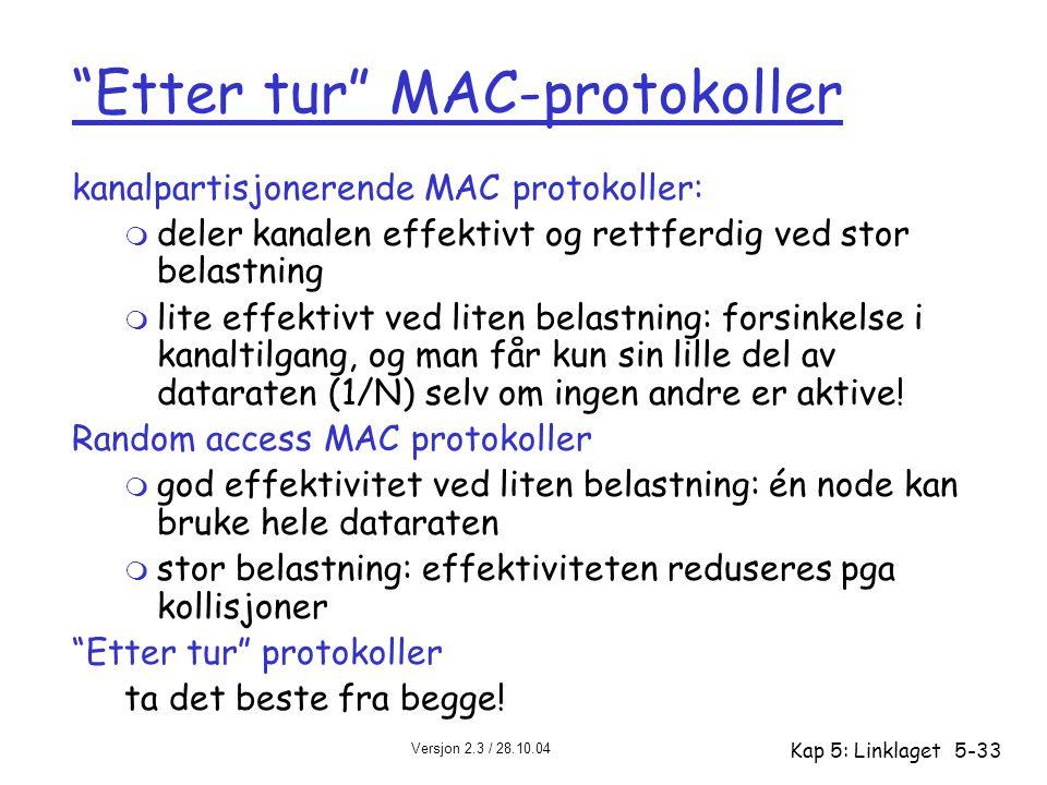 Etter tur MAC-protokoller