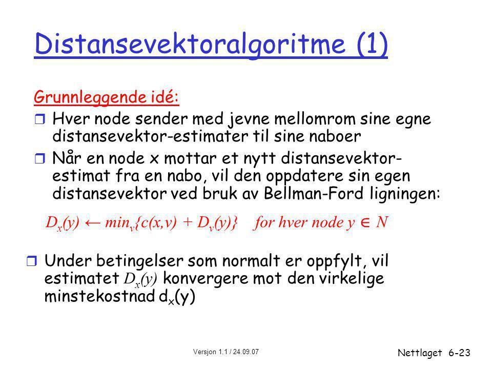 Distansevektoralgoritme (1)