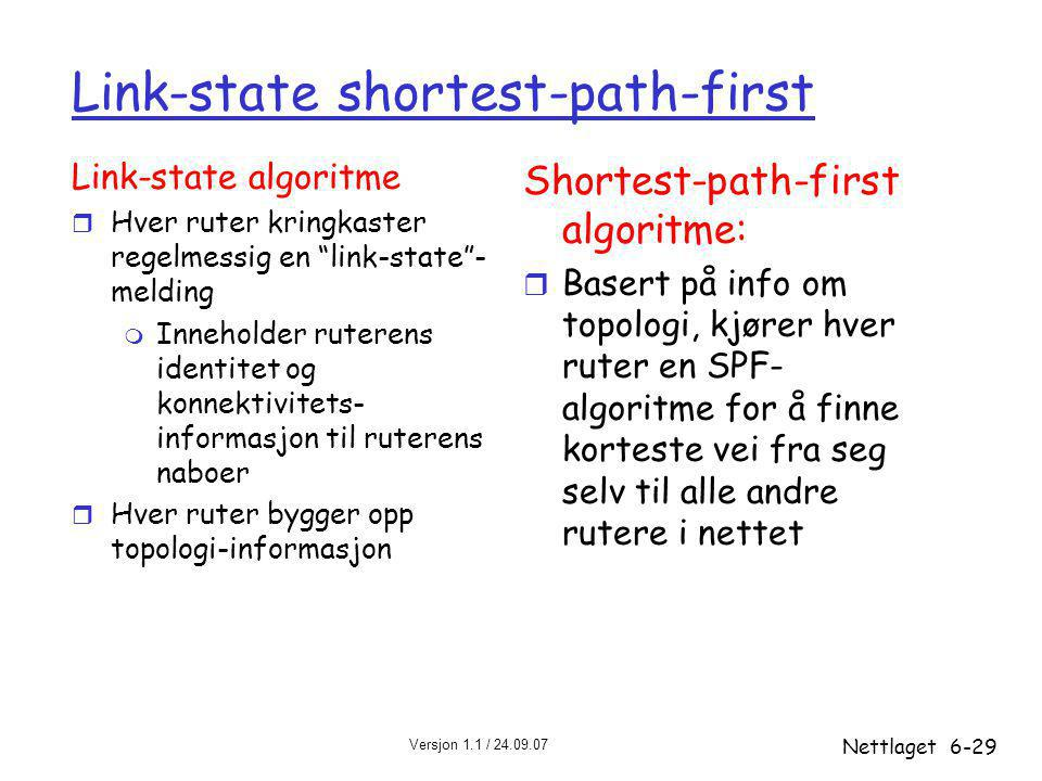 Link-state shortest-path-first