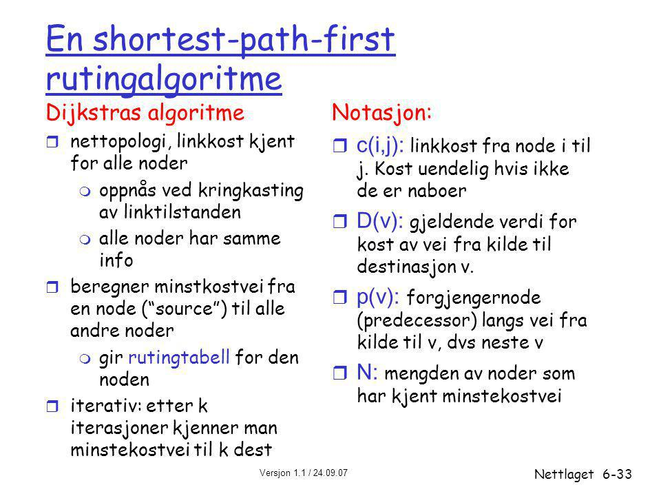 En shortest-path-first rutingalgoritme