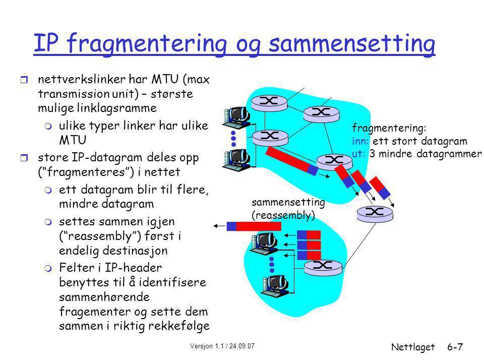 IP fragmentering og sammensetting
