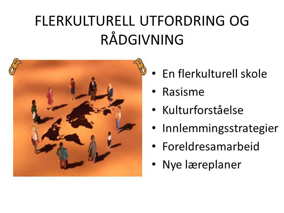 FLERKULTURELL UTFORDRING OG RÅDGIVNING