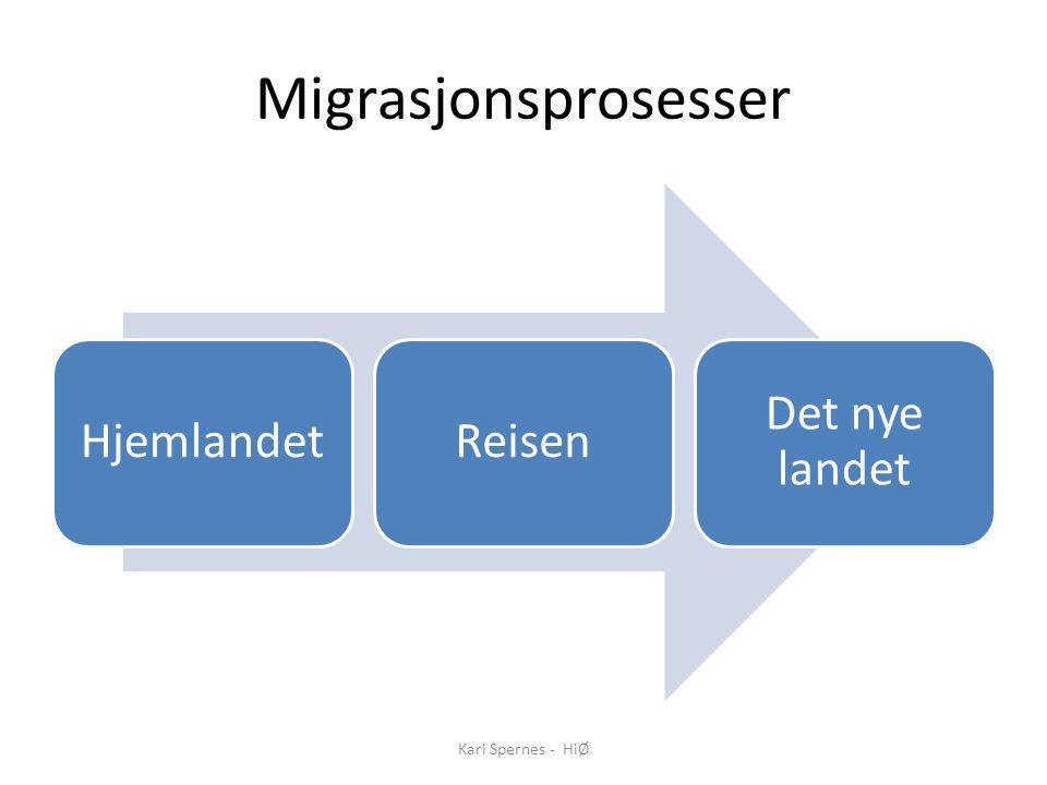 Migrasjonsprosesser Kari Spernes - HiØ Hjemlandet Reisen