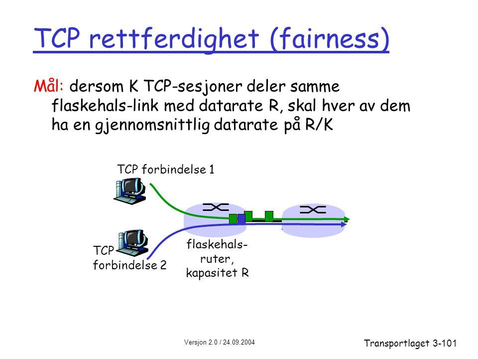 TCP rettferdighet (fairness)