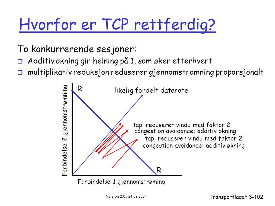 Hvorfor er TCP rettferdig