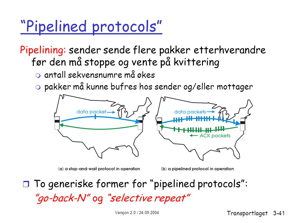 Pipelined protocols
