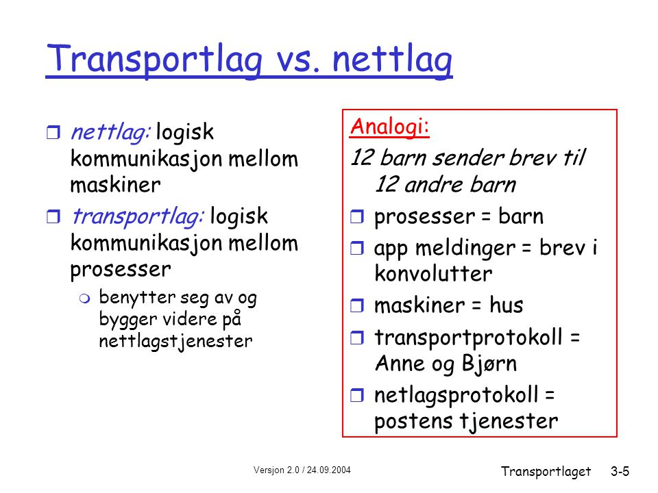 Transportlag vs. nettlag