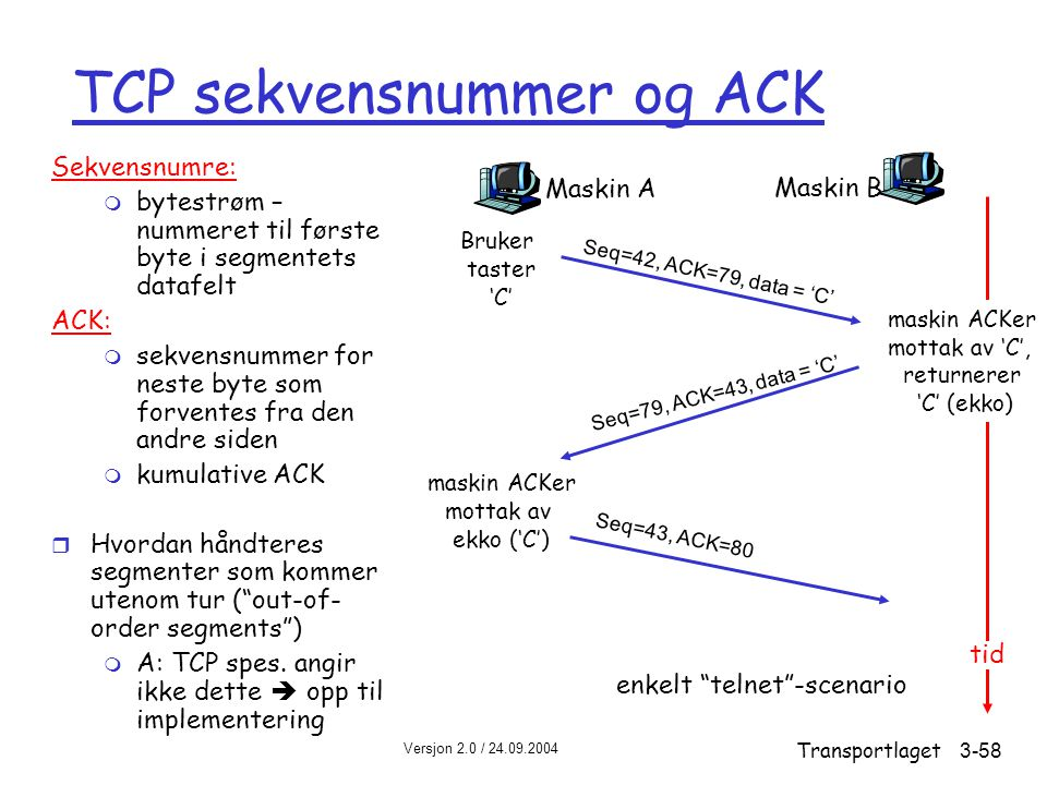 TCP sekvensnummer og ACK