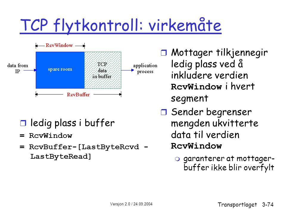 TCP flytkontroll: virkemåte