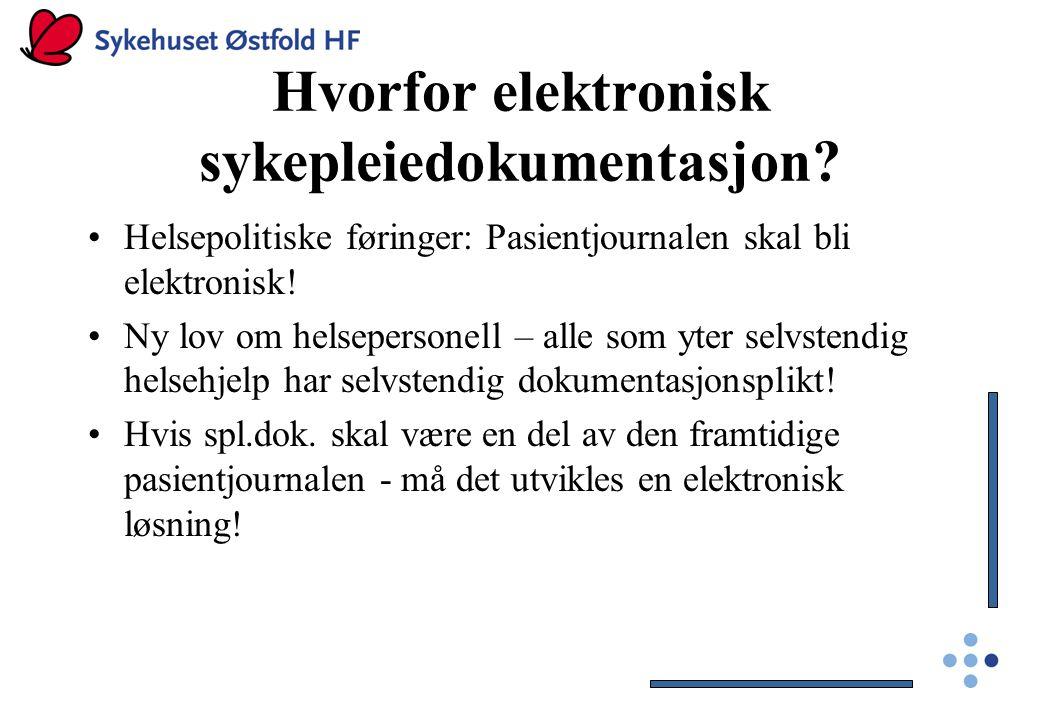 Hvorfor elektronisk sykepleiedokumentasjon