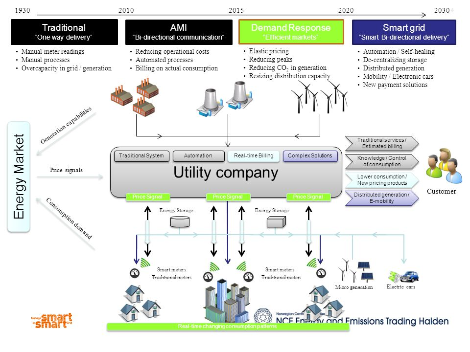 Utility company Energy Market Traditional AMI Demand Response