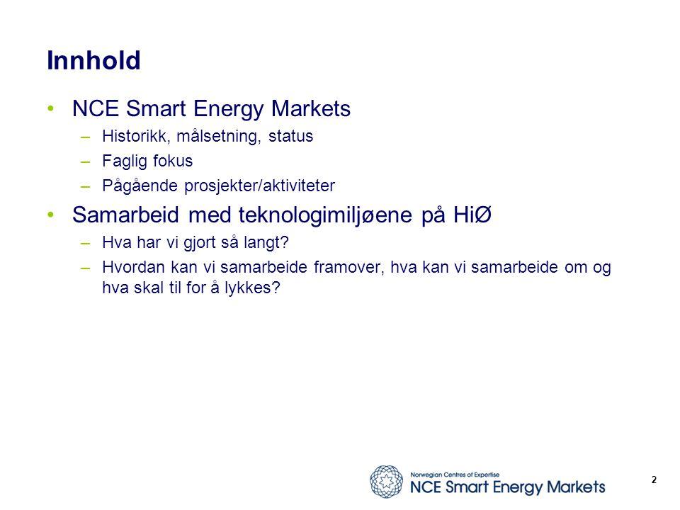 Innhold NCE Smart Energy Markets