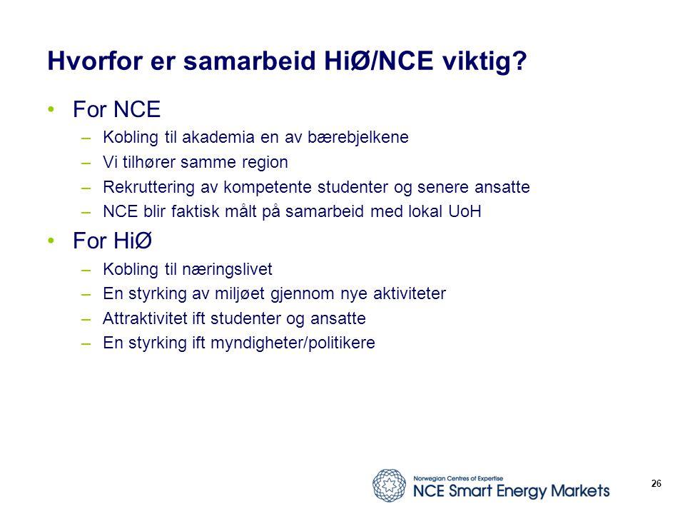 Hvorfor er samarbeid HiØ/NCE viktig