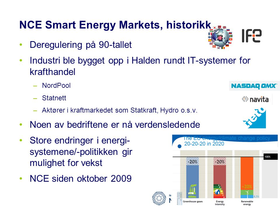 NCE Smart Energy Markets, historikk